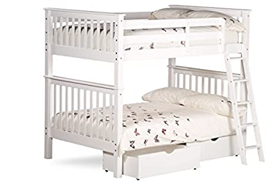 4ft Over 4ft Amani Malvern Bunk Bed In White