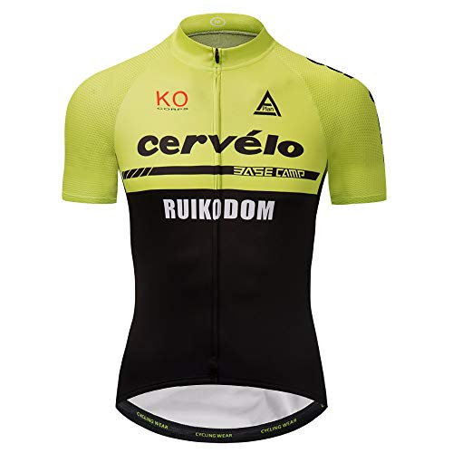 Men's Cycling Jersey Set Bike Jersey Bicycle Shirts Summer Breathability Short Sleeve Clothing C157 (X, S)