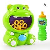 Bubble Machine, Kinder Cartoon Electric Hippo Elephant Bubble Blowing Spielzeug Bad Bubble Maker Automatische Bubble Blower Spielzeug Für Kinder Kinder