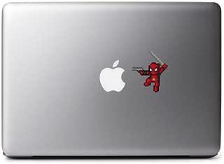 8-Bit Deadpool (Gun) Decal for MacBook, iPad Mini, iPhone 5S, Samsung Galaxy S3 S4, Nexus, HTC One, Nokia Lumia, Blackberry