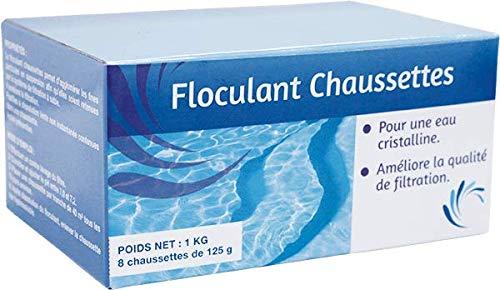 WEB2O Floculante para piscina 1 kg (8 x 125 g) para filtración de piscinas – Especial agua