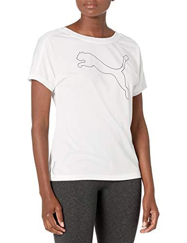 PUMA Women's Jersey Cat Training T-Shirt, White, XL