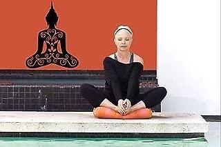 V-studios Calcomanía de Pared para Dormitorio, Yoga, Buda Shiva, diseño de Flores hindúes bo2758