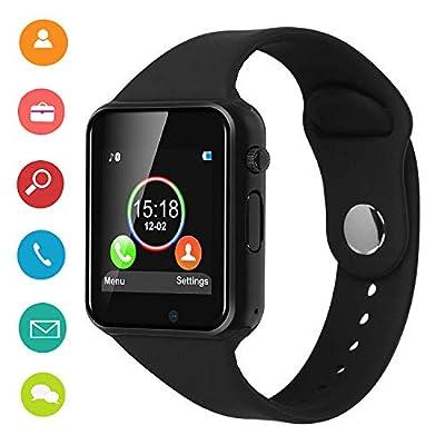 DOROIM Smart Watch Bluetooth Smart Watch Sport Fitness Tracker Wrist Watch Touchscreen, Compatible iPhone iOS Samsung LG Android Women Men Kids (Black) from DOROIM