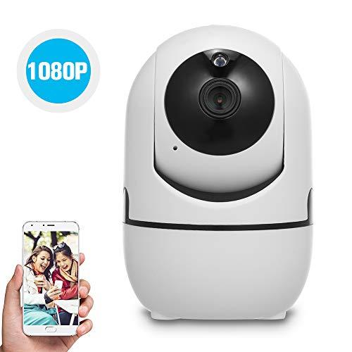 Owsoo 1080P Wifi-Camera, Babyphone Ip-Camera Met Bewegingsdetectie, Volgen, Spraakalarm, 2-Wegsaudio Intercomfunctie, Nachtzicht, Tf-Kaart, Cloudopslag, Voor Baby, Kantoor, Elder Monitor