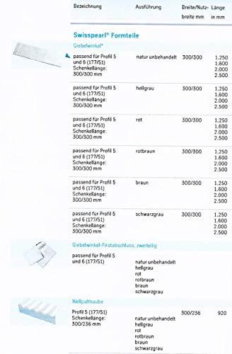 Wellfirsthaube für Faserzementplatten Profil 177/51 - P5 320/320 * schwarzgrau*