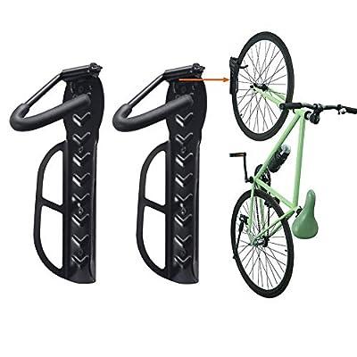 Horizontal Bike Wall Mount Rack Storage for Garage Helmet Holder Shelf Indoor