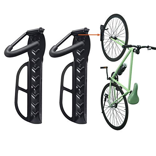 Wallmaster Bike Rack Garage Wall Mount Bicycles 2-Pack Storage System Vertical Bike Hook for Indoor
