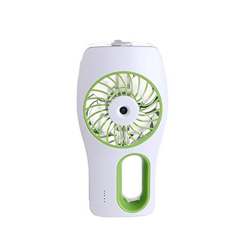 MianBaoShu Draagbare USB-ventilator met luchtbevochtiger Super koeling voor onderweg, thuis en op kantoor (groen)