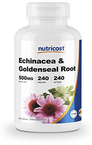 Nutricost Echinacea & Goldenseal Root, 500mg, 240 Capsules - Vegetarian Caps, Non GMO, Gluten Free