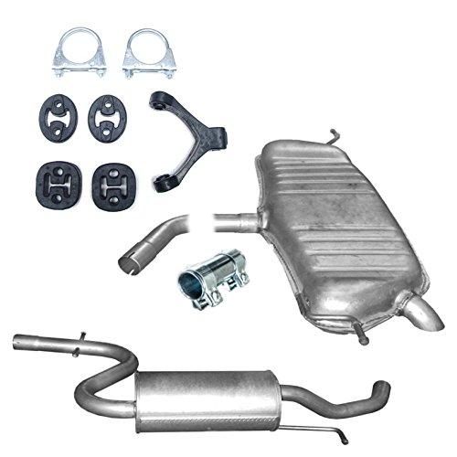 Auspuff Mittelschalldämpfer Endschalldämpfer + Montageware Neuware (passend für das angegebene Fahrzeug ,siehe Artikelbeschreibung)