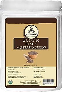 Organic Black Mustard Seed (1lb) by Naturevibe Botanicals, Gluten-Free & Non-GMO (16 ounces)