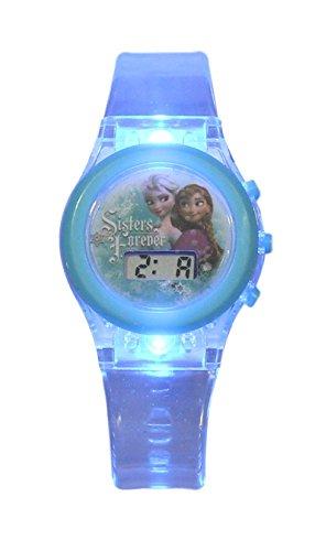 Kids Licensing |Reloj Digital Niños | Reloj Frozen |Diseño Personajes Disney |Reloj Infantil con Luz | Reloj de Pulsera Infantil Ajustable| Bisel Reforzado | Reloj de Aprendizaje | Licencia Oficial