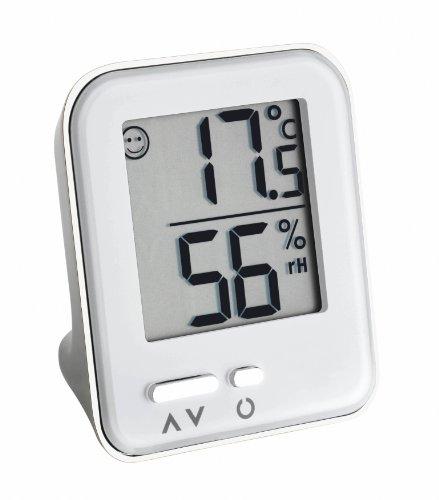 TFA Dostmann Metal Moxx digitales Thermo-Hygrometer, Komfortzonen-Indikator, gesundes Raumklima, Innentemperatur, Luftfeuchtigkeit, Metallgehäuse