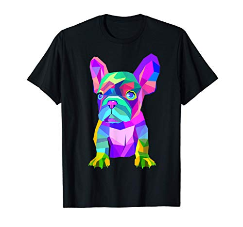 Colored Dog Frenchie Breed, Cute French Bulldog T-Shirt