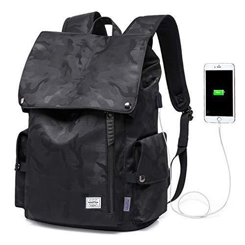 WindTook Herren Laptop Rucksack Daypack Tagesrucksack Schulrucksack für 15,6 Zoll Notebook Computer, Wasserabweisend, 20L, 30 x 17 x 45cm, Camouflage Schwarz