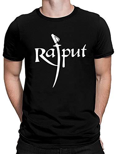 Bhains Ki Ankh Men Black Printed Polyester Round Neck Short Sleeves T-Shirt (MENAMBEDKARRAJPUT-TALWAR)