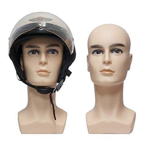 YJF Mannequin tête de Mannequin en PVC pour Perruques, Chapeaux, Casque, Masque, Lunettes de Soleil, Boucles d'oreilles, Bijoux, Casque et Foulards
