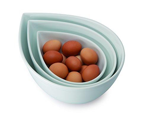 Universal Expert en Porcelaine Porcelaine Bols mélangeurs, Lot de 3, Blanc