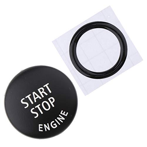 Almencla Auto Zündschalter Knopfabdeckung und Motor Start/Stop Taste Ring für BMW E90 E60 E70
