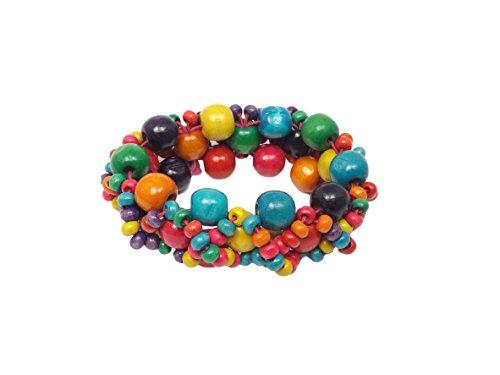 Remi Bijou Wunderschönes Armband Armreif aus Holz - Bunt - Tolle Farben für Sommer Look