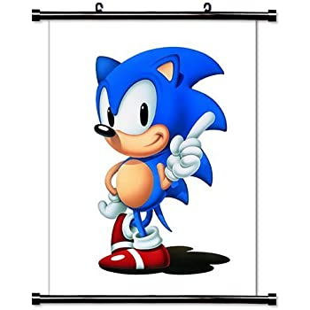 Amazon Com 1 X Sonic The Hedgehog Game Fabric Wall Scroll Poster 16 X 20 Inches Prints Posters Prints