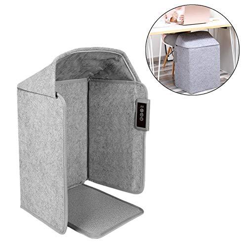 Elektrischer Fußwärmer, regulierbarer Thermostat, der die flache Raumheizung faltet, die unter Schreibtisch-Fußwärmer-Reißverschluss-Entwurfs-Fußheizung mit Ruhe-Betrieb für Haus, Büro faltbar ist