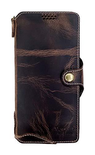 Yogurt für Samsung Galaxy Note10 Lite (17.02cm (6.7 Zoll) Ledertasche Hülle Echtleder Hülle Lederhülle Wallet Öl Leder