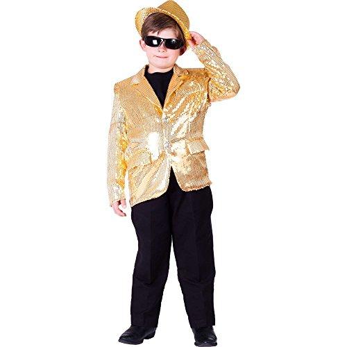 Dress Up America volledig gevoerde gouden pailletten jas voor kinderen