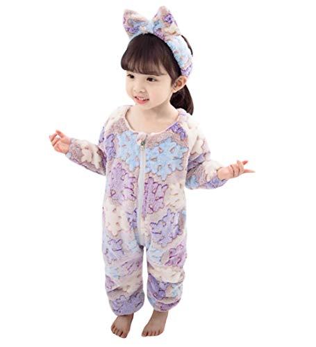 DEBAIJIA Baby Strampler 1-8T Säugling Overall Kleinkind Spielanzug Footed Neugeborene Jumpsuit Pyjama Junge Mädchen Unisex (Violett-130)