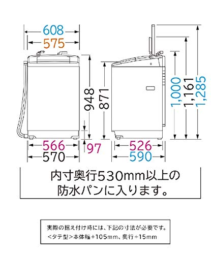 HITACHI(日立製作所)『白い約束全自動洗濯機(NW-80C)』