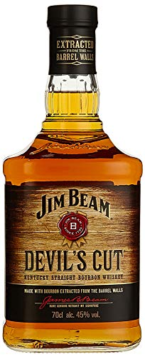 Jim Beam Devil's Cut Kentucky Straight Bourbon Whiskey, robuster Geschmack mit intensiven Eichen- und Vanillenoten, 45% Vol, 1 x 0,7l
