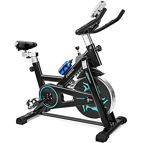 ODOGYM Indoor Cycling Bike Stationary - Exercise Bike with Comfortable Seat Cushion, Phone/Ipad Bracket, Heavy Flywheel and LCD Monitor for Home Gym (Green)