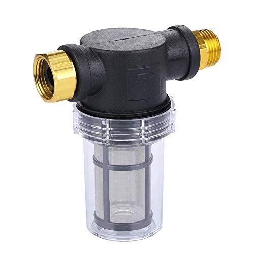 Auoeer Fijación de los filtros de sedimentos for mangueras de jardín y Arandelas de presión de 3/4 100 de Malla