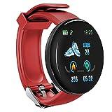 LZW Multifunktionale Intelligente Uhr, Sport-Tracker, Wasserdicht, Für Männer Und Frauen-Fitness-Armband, Rund Bluetooth-Uhr, Kompatibel Mit Android Und IOS,Rot