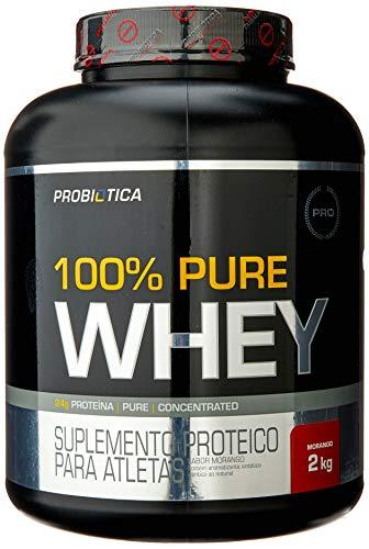 100% Pure Whey (2Kg) - Sabor Morango, Probiótica