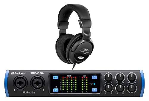 PreSonus Studio 68c USB-C Audio Interface Set (Mobiles 6x6 USB-C Audio Interface mit DAW-Software Bundle & Komfort-Kopfhörer)