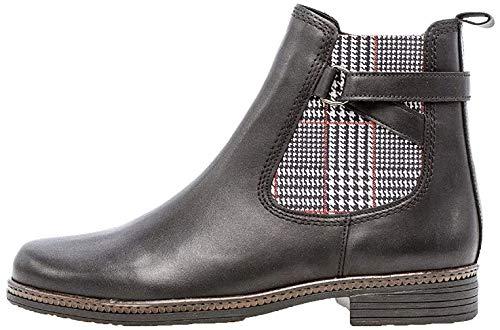 Gabor Damen Stiefelette 34.670, Frauen Chelsea Boots,Stiefel,Halbstiefel,Bootie,Schlupfstiefel,flach,schwarz (Kombi),40 EU / 6.5 UK