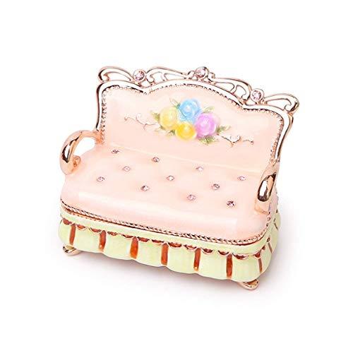 Y DWAYNE Boîte à Bijoux Organisateur Cas décoratif à Collectionner Bijoux bibelot boîte pour Femmes Mini Meubles canapé boîte à Bijoux boîte de Rangement Magnifiquement boîte de Rangement