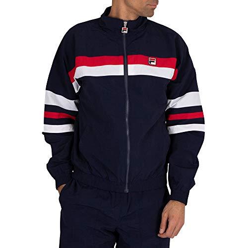 Fila Herren Tyrell Color Block Trainingsjacke, Blau, M