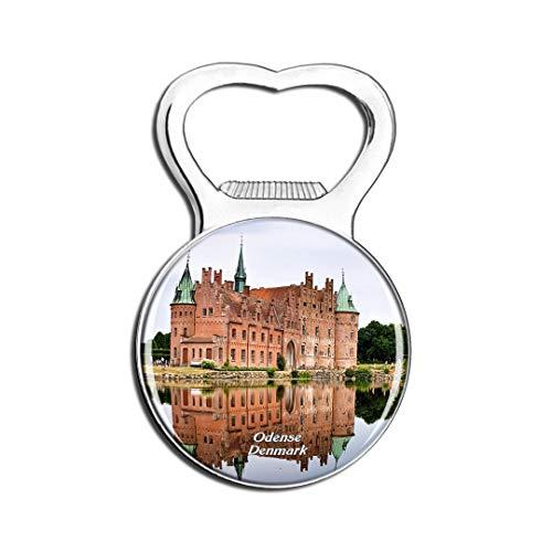 Weekino Schloss Odense Dänemarks Egeskov Kühlschrankmagnet Bier Flaschenöffner Stadt Reise Souvenir Sammlung Starker Kühlschrankaufkleber