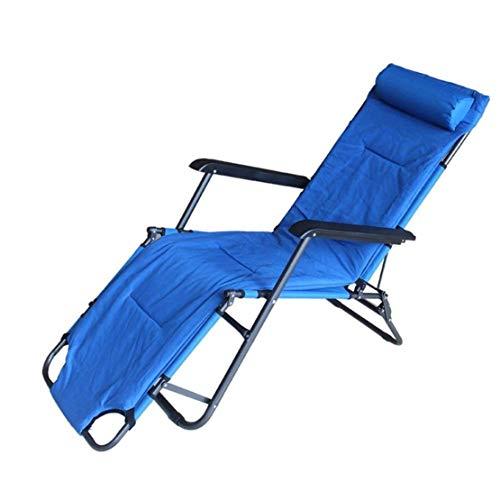 GJZM Tumbonas de jardín, sillas de Cubierta Plegable y Acolchada, Adecuado para Uso en Interiores, terrazas, Playas, Piscinas, etc. Las reposeras, sillas de jardín,Azul