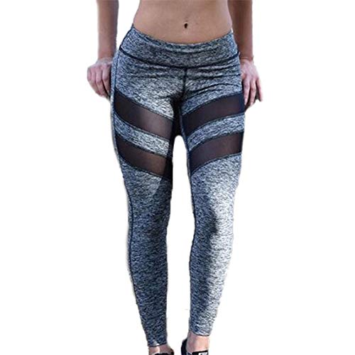 Pistazie - Leggings para mujer, pantalones de running transpirables, pantalones de yoga y fitness, cintura alta, rayas sexy y slim con bolsillos para hacer deporte y pilates