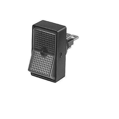 HELLA 6EH 004 407-022 Schalter - Kippbetätigung - Anschlussanzahl: 3 - geschraubt - Bohrung-Ø: 12,5mm - Ein/Aus Schalter/Wechsler - Schalterbeleuchtung: gelb/orange