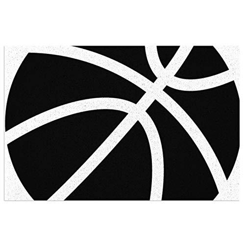 Felpudo deportivo de baloncesto, felpudo de bienvenida, felpudo de interior, antideslizante, alfombra lavable para porche, cocina, entrada, 40 x 60 cm