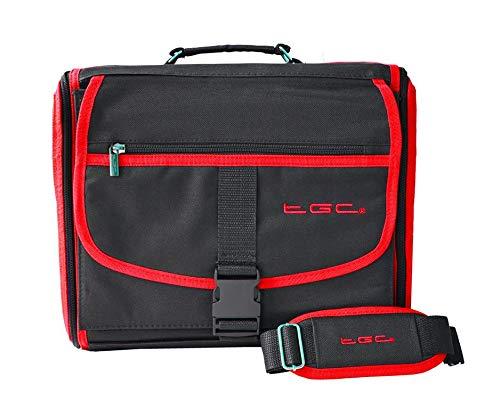 TGC ® Étui de Transport pour Console Microsoft Xbox One S Noir avec Bords Rouge Pourpre