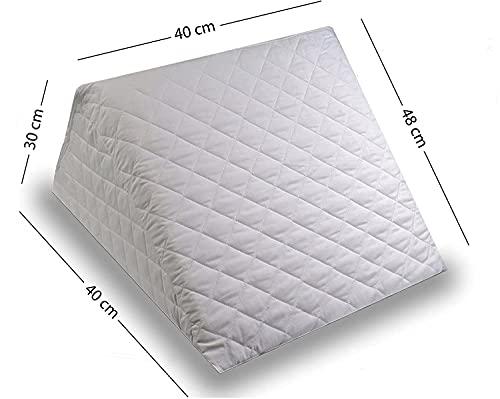 ZETA TEX - Cojín con Forma de Cuña para Cama y Sofá, Sujeción de Espalda Almohada de Lectura 40 x 30 x 48 cm Texturas Home ⭐
