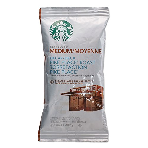 Starbucks 11023061 Coffee, Pike Place Decaf, 2 1/2 oz Packet, 18/Box
