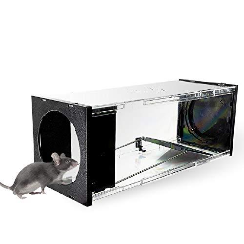 Silberkraft Mäusefalle, Lebendfalle für Mäuse und Ratten, Maus und Ratten tierfreundlich fangen, Wiederverwendbare Rattenfalle, sinnvolle Alternative zu Schlagfallen, Mäusegift oder Rattengift