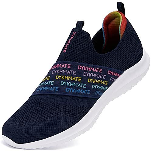 URDAR Zapatillas Deportivas para Mujer Hombre Ligeras Casual Zapatos para Caminar de Malla Transpirables Verano Zapatillas Casual Gimnasia Correr Sneakers(Azul Rosado,41 EU)